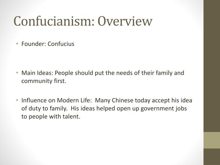 Confucianism: Overview