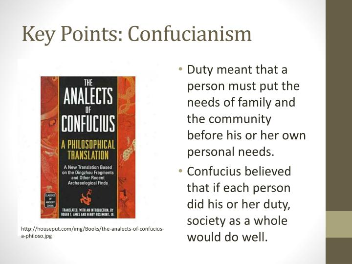 Key Points: Confucianism