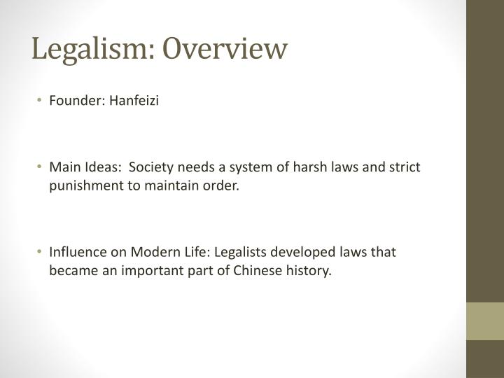 Legalism: Overview