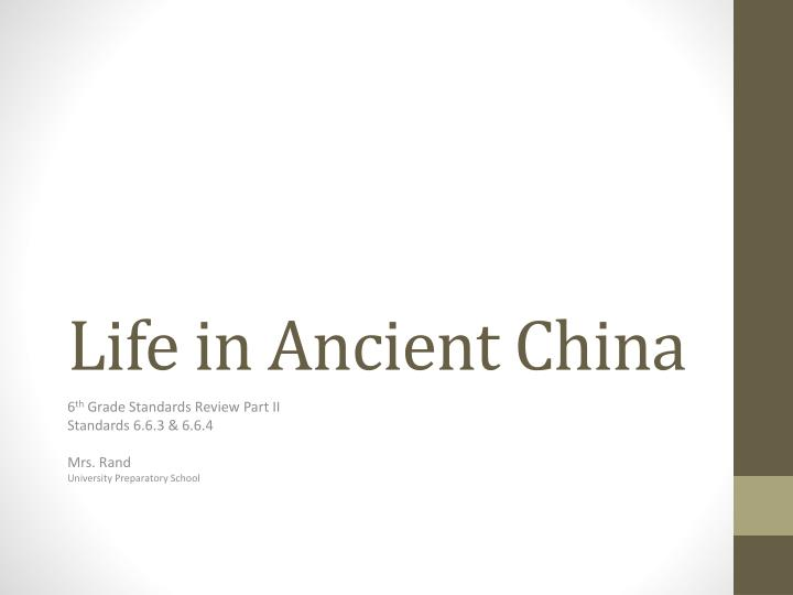 life in ancient china n.
