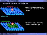 magnetic atoms on surfaces