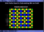unit cells used in calculating mn on cun