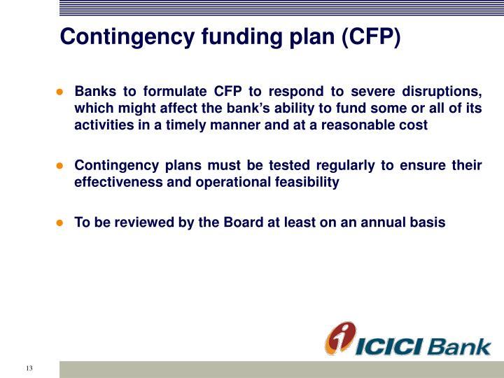 Contingency funding plan (CFP)