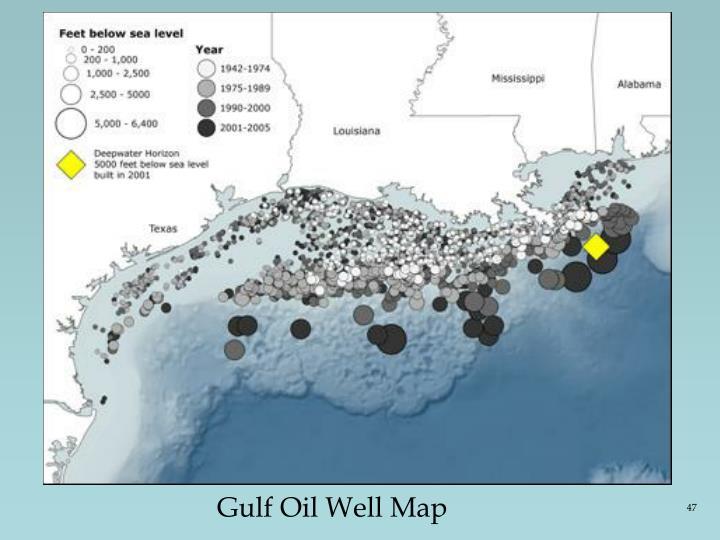 Gulf Oil Well Map