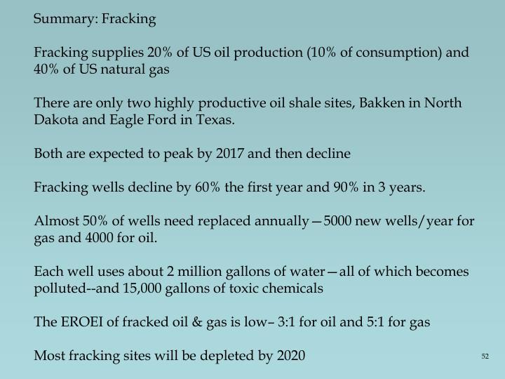 Summary: Fracking