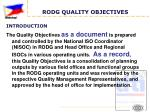 rodg quality objectives2