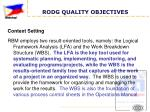 rodg quality objectives8