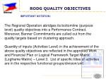 rodg quality objectives9