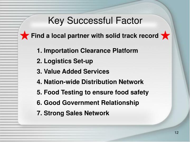 Key Successful Factor