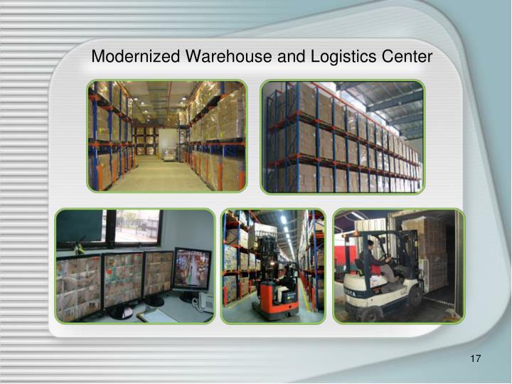 Modernized Warehouse and Logistics Center