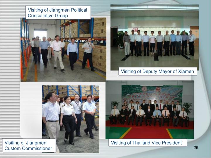 Visiting of Jiangmen Political Consultative Group
