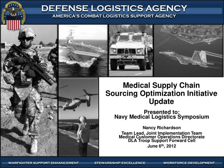 medical supply chain sourcing optimization initiative update n.