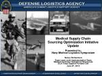 medical supply chain sourcing optimization initiative update