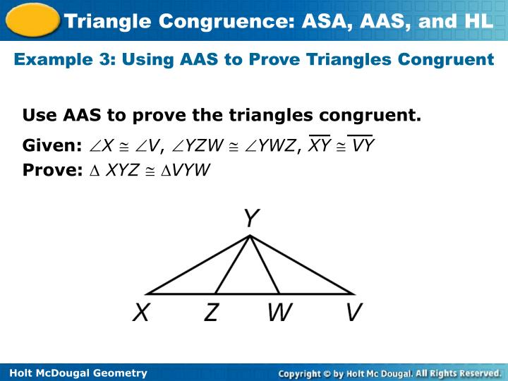 PPT     Triangle       Congruence     ASA  AAS  and HL PowerPoint