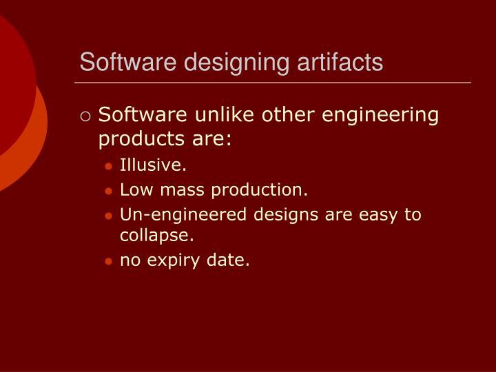 Software designing artifacts