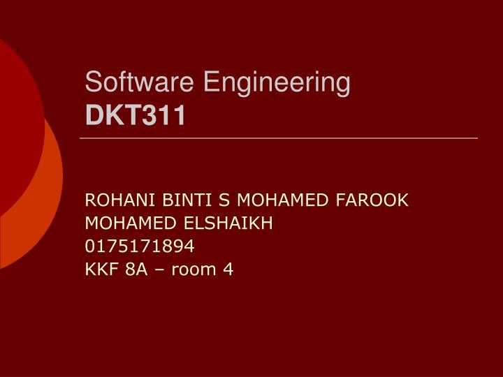 Software engineering dkt311