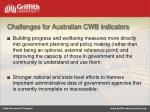 challenges for australian cwb indicators1
