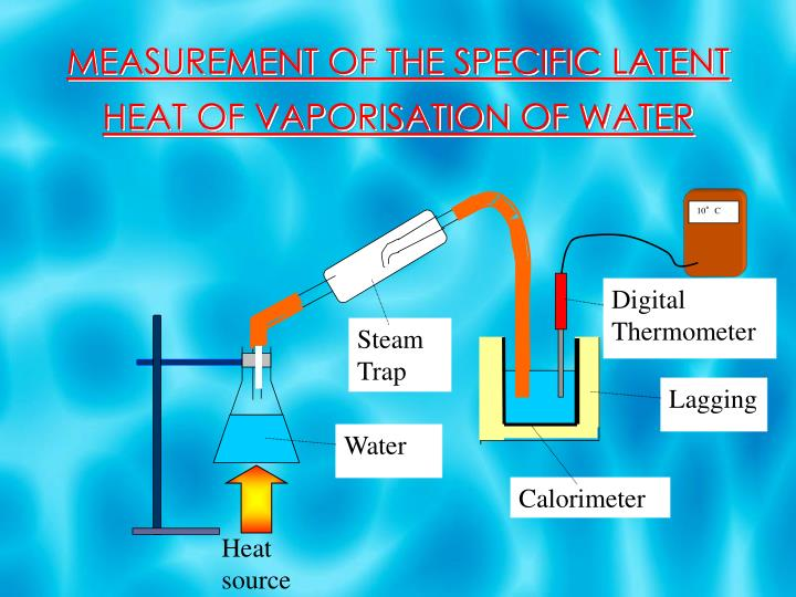 lab report latent heat of vaporisation In this work, modifications are made to a fairly simple laboratory experiment to experimentally determine the latent heat of vaporization with a substantially lower error than those previously reported.