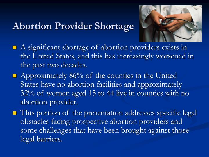 Abortion provider shortage