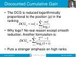discounted cumulative gain1