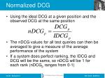 normalized dcg1