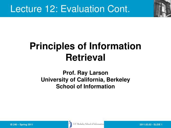 prof ray larson university of california berkeley school of information n.