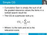 simple cg