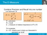 the e measure