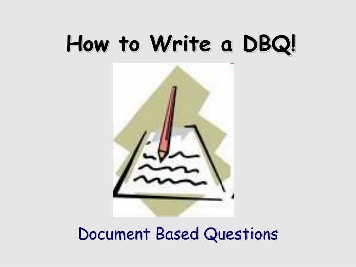 how to write a dbq n.