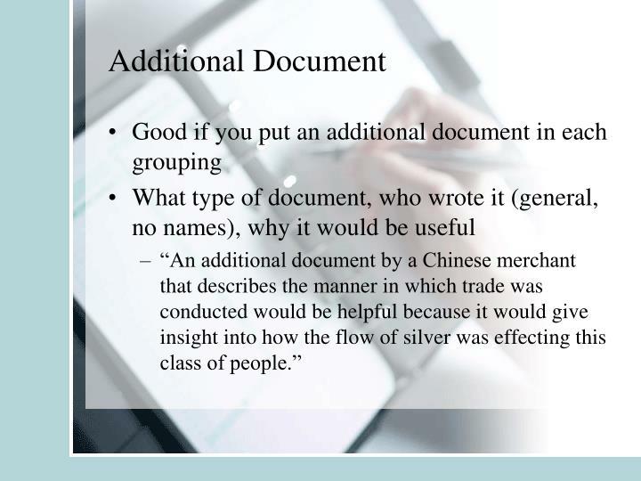 Additional Document