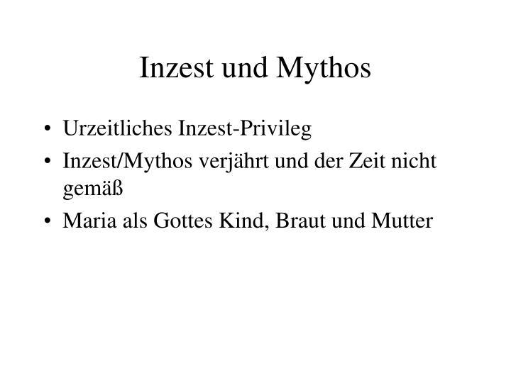 Inzest und Mythos
