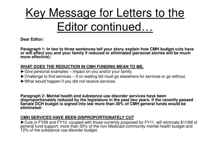 letter to the editor sample advocacy Sample advocacy letters decide to whom you will write use a business letter format use correct salutations and addresses for the recipient.