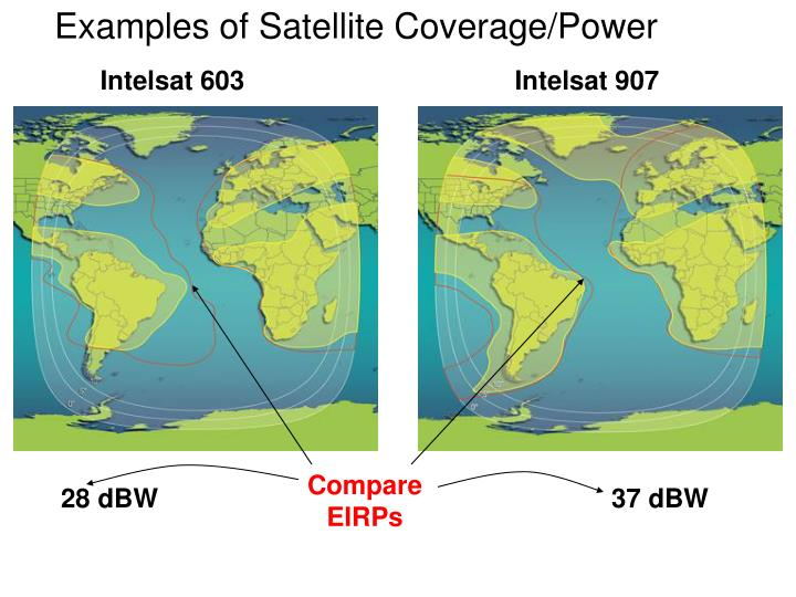 Examples of Satellite Coverage/Power