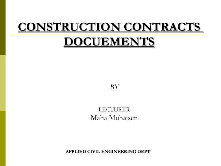 construction contracts docuements n.