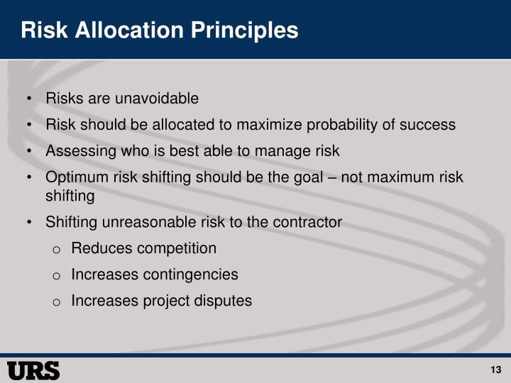 Risk Allocation Principles