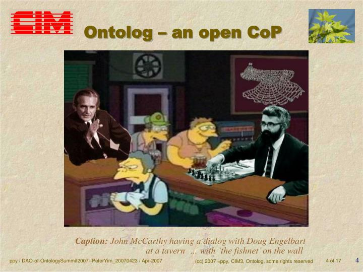 Ontolog – an open CoP
