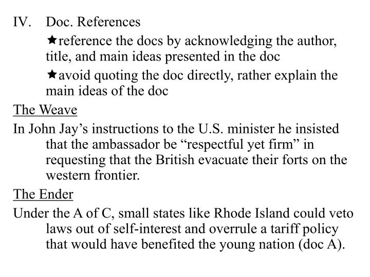 Doc. References