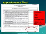 apportionment form