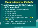 prepare response booklets1