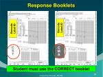 response booklets1