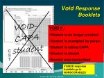 void response booklets