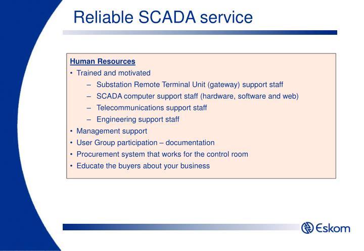 Reliable SCADA service