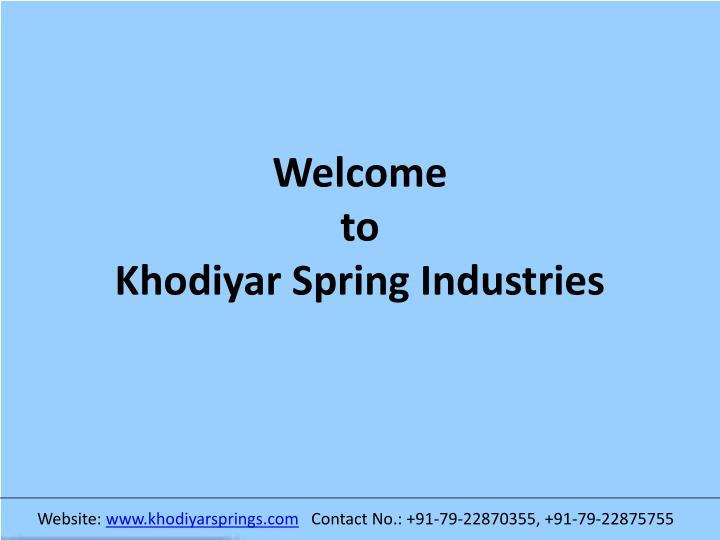 welcome to khodiyar spring industries n.