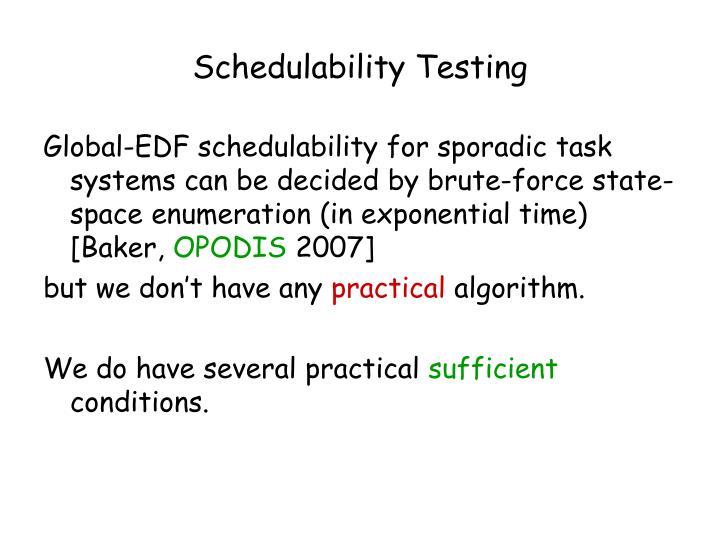 Schedulability Testing
