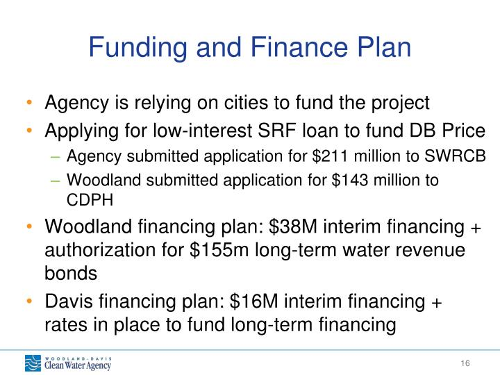 Funding and Finance Plan