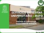 servicios bienestar universitario bufo
