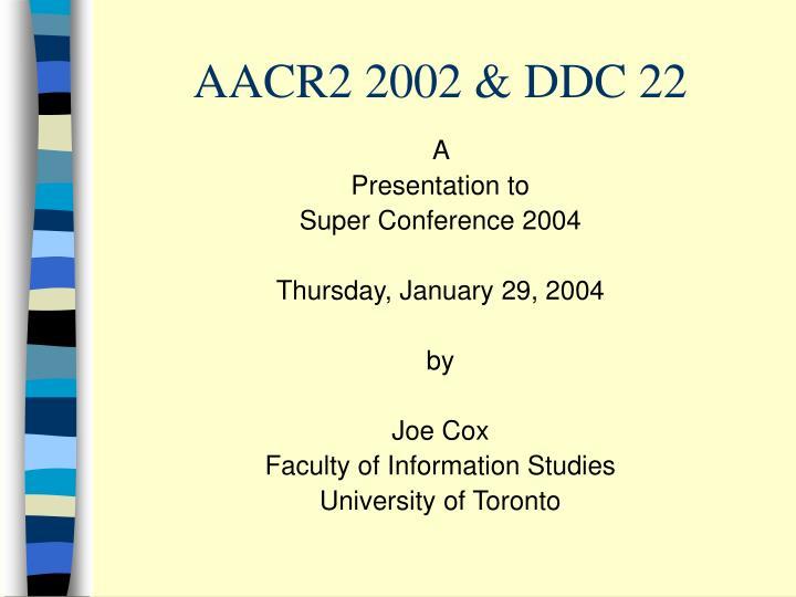 aacr2 2002 ddc 22 n.
