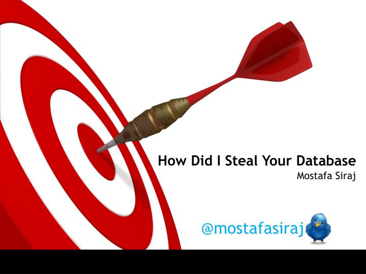 how did i steal your database