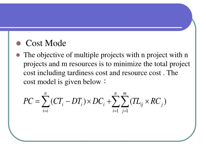 Cost Mode