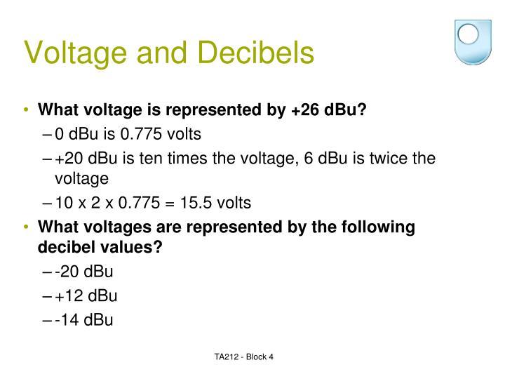 voltage and decibels n.